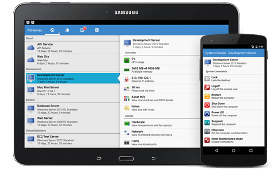 Monitor and manage your IT from your android device