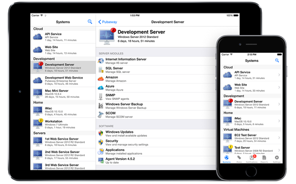 Monitor and manage your IT from your iPhone or iPad