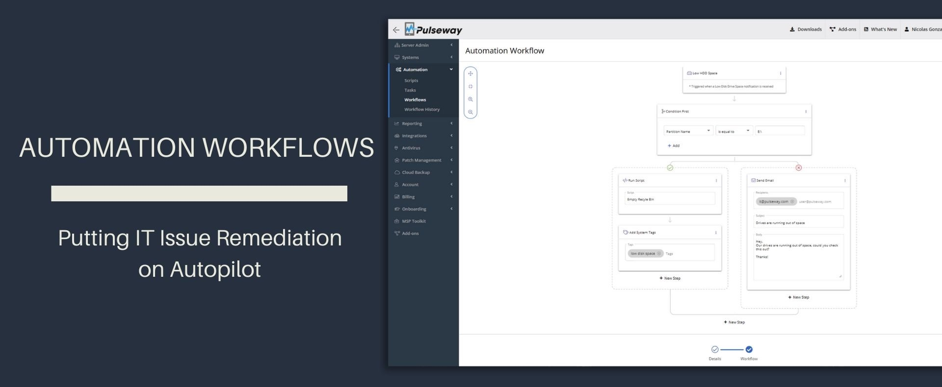 Pulseway Introduces Brand New Automation Workflows to Auto-remediate Issues on User's Behalf