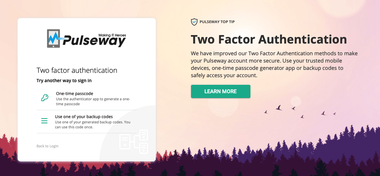 Compete on credibility with the new Pulseway 2FA