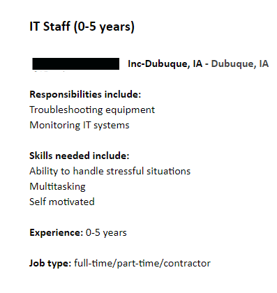 IT technician job description template jobposting