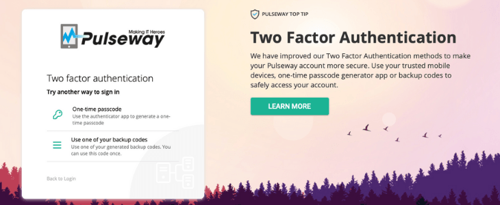 Pulseway Introduces A New Enhanced Version of Two-Factor Authentication