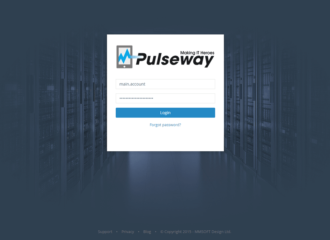 Login to Pulseway SaaS Enterprise Admin
