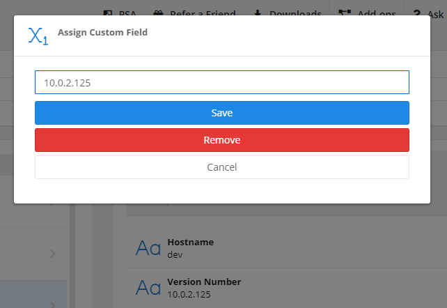 Custom Fields Editing Value